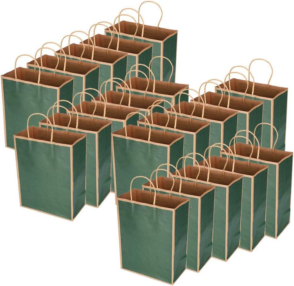 Kraft Paper Bags - 20PCS Reusable Eco-Friendly Bag - for Shoppin