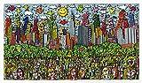 Kunstdruck Fun Days on Sundays in Central Park Grün Poster