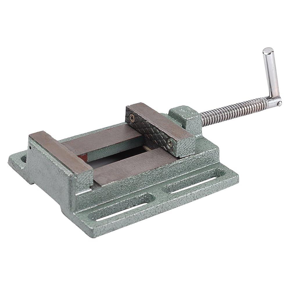 クランシー近く美しいドリルプレスバイス DIY 木工作業 米式 79mm ベンチ クランプ 鋳鉄製 - 3インチ