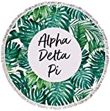 Sorority Shop Alpha Delta Pi - Palm Leaf - Fringe Towel - Blanket
