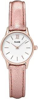 CLUSE La Vedette Rose Gold White Rose Gold Metallic CL50020 Women's Watch 24mm Leather Strap Minimalistic Design Casual Dress Japanese Quartz