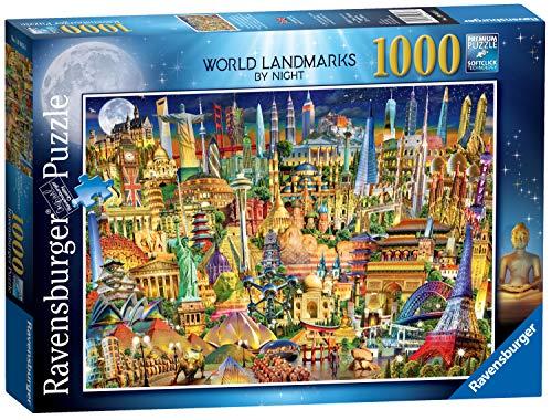 Ravensburger 19843 World Landmarks at Night 1000pc Jigsaw Puzzle,