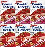 Junket Danish Dessert Mix – 3 each of Raspberry and Strawberry - 4.75 oz. boxes (6 Total) including Recipe Sheets for delicious dessert ideas Get two flavors in this convenient bundle to make pudding, pie filling, glaze and more. Each 4.75 oz. box ma...