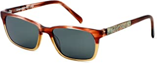 product image for Parkman Handcrafted Polarized Sunglasses Francesa in Cranberry Tan with Money & Grey Lens ; Made in the USA