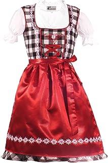Kiddy Tracht Trachtenkleid 3tlg. Kinderdirndl Set schwarz weis Gr. 86,92,104,110,116,122,128,134,140,146,152