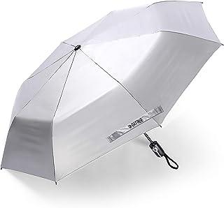 G4Free UPF 50+ UV Protection Ultra Lightweight Travel Umbrella Auto Open Close Silver Coating 46 Inch Windproof Sun Blocki...