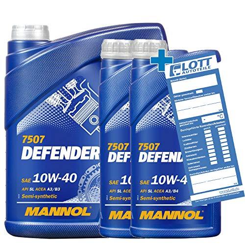 MANNOL 7L MOTORÖL Defender 10W-40 10W40 MOTORENÖL MN7507-5