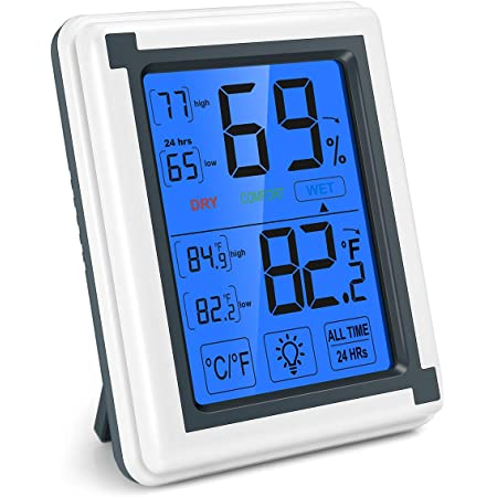 DURAGADGET Small Home//Wall//Desk Indoor LCD Room Temperature /& Humidity Thermometer//Gauge//Meter with Stand and Digital Display Perfect For Use In The Office Or At Home, Importado de Reino Unido