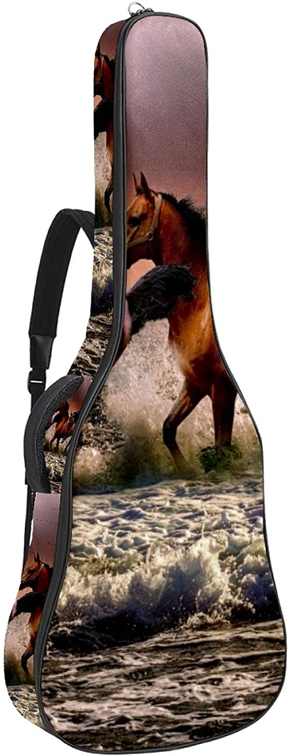 Tucson Mall Finally resale start Acoustic Guitar Bag Thick Padding Waterproof Sho Adjustable Dual