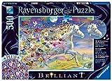 Ravensburger- Schmetterlingseinhorn, Brilliant Puzzle 500 Piezas, Multicolor (15046)