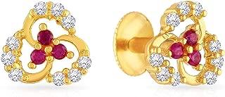 Malabar Gold & Diamonds 22k (916) Yellow Gold Stud Earrings for Women
