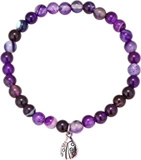 Purple lilac braid bracelet with message charm choose from many in gift bag