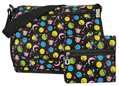 GFM Kleurrijke & Robuuste Cartoon Multi Gebruik Messenger Cross Body Bag voor School, Gym, Vakantie Strand