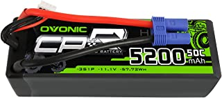 OVONIC 50C 3S 5200mAh 11.1V Lipo Battery with EC5 Connector for Arrma Kraton Outcast Notorious Senton Typhon Granite 4x4 3blx Electric Powered 1/8 Scale RC Cars and Trucks Buggy Truggy