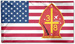 3rd Battalion 8th Marine Regiment Garden Flags 3 X 5 in Indoor&Outdoor Decorative Home Fall Flags Holiday Decor