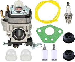 Buckbock 300486 Carburetor with Gasket Primer Blub Fuel Line Repower Tune-Up Kit for Earthquake E43 E43CE E43WC Auger MC43 MC43E MC43CE MC43ECE MC43RCE Tiller MD43 WE43 WE43E WE43CE Edger