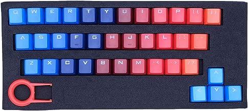 ATTAV 37 Keys PBT Backlit Keycaps Double Injection-Color Keycap Set for Mechanical Keyboard(Sunset Ocean)