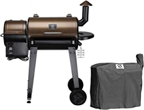 Z GRILLS ZPG-450A Wood Pellet Grill Smoker for Outdoor Cooking with Cover
