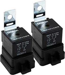 ( One Pair) OMRON Trim Tilt Relay for Outboard Motor American, SPDT, 12 VDC, 40A, G8JN Series, Panel, Quick Connect