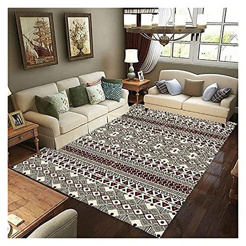 JIAH Alfombra vintage Bck triángulo Re rayas patrón indios extra rge interior impreso alfombra antideslizante lavable para decoración del hogar, dormitorio, sala de estar, 80 x 160 cm