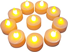 Peegli Flameless LED Tea Light Candles, Realistic and Bright, Smokeless Electronic Candle Set Naturally Light, Battery Pow...
