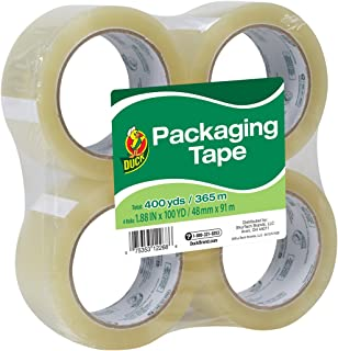 Duck Tape Brand Standard Packaging Tape Refill, 4 Rolls, 1.88 Inch x 100 Yards (240593)