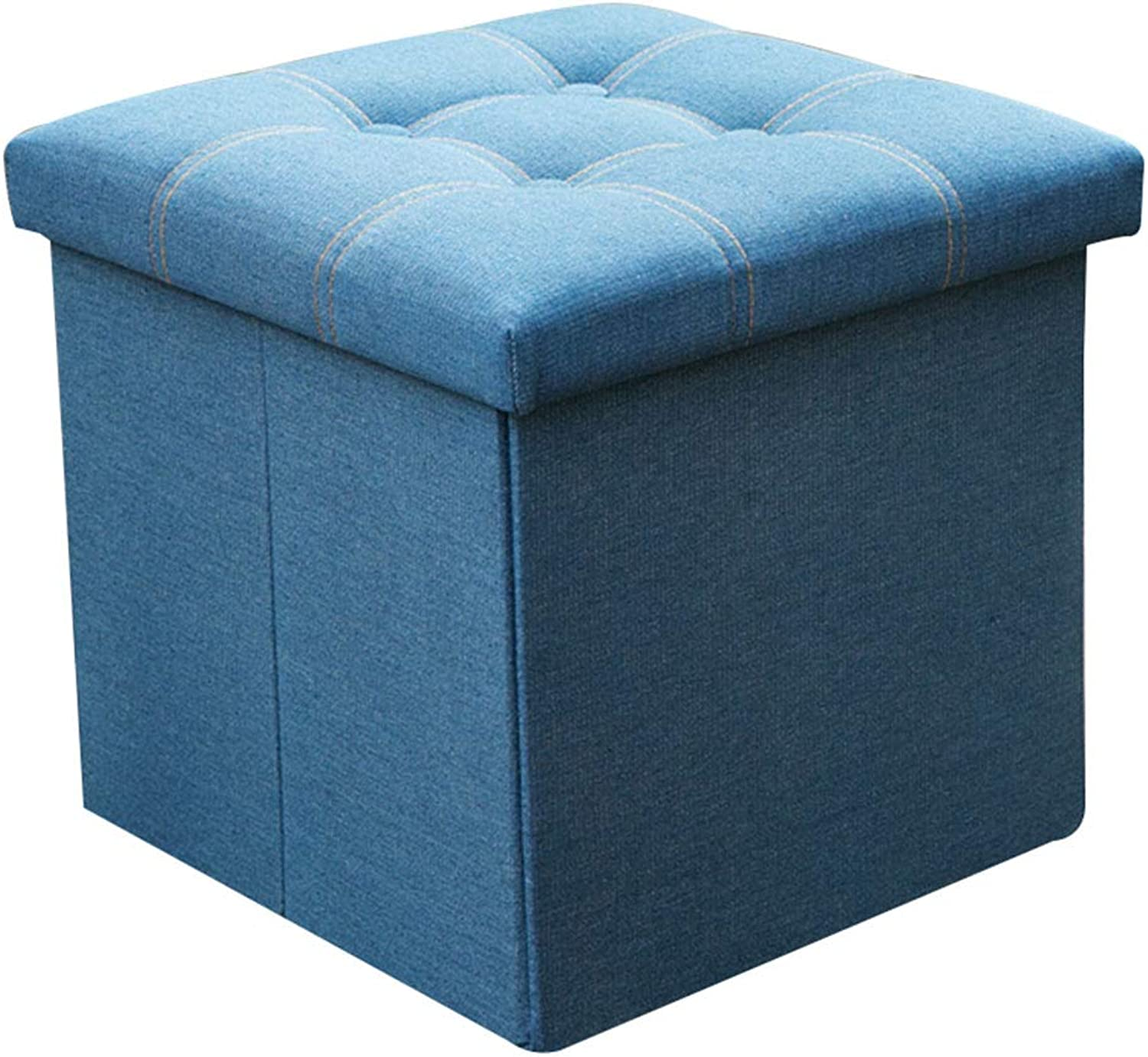 CAIJUN Footstool Multifunction Storage Canvas Fabric Thicken Wear Resistant Whole Outfit, 3 colors, 3 Sizes (color   C, Size   38x38x38cm)