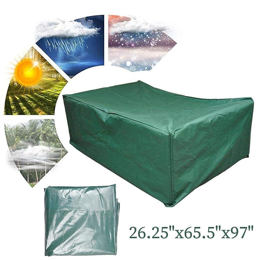破産欠如にデン屋外カバーテーブル 屋外の庭の家具カバーパティオの家具は、ヘビーデューティオックスフォード防風防水アンチUV、10?12席のために適合カバー FYRONG (Color : Green, Size : 66x166x246cm)