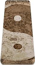 Yoga Mat Antislip TPE taichi bagua yinyang op grungy vintage hoge dichtheid vulling om pijnlijke knieën te voorkomen, Perf...