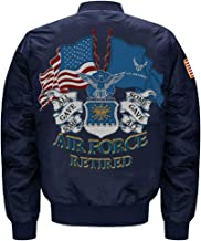 U.S. Air Force Retired MA-1 Flight Embroidered Bomber Jacket
