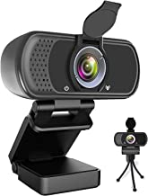 Webcam HD 1080P,Webcam with Microphone, USB Desktop Laptop Camera with 110 Degree Widescreen,Stream Webcam for Calling, Re...