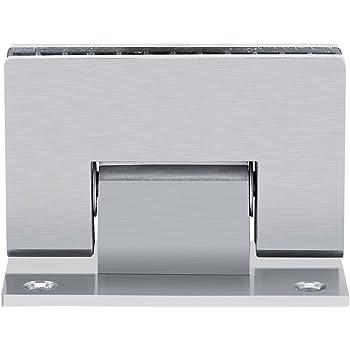 Bisagra para puerta de ducha, 8-10 mm, soporte de 90 grados, sin ...