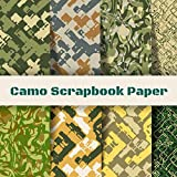 Camo Scrapbook Paper: Camouflage Stationary Book | Origami Craft Patterns | Scrapbooking Supplies Kit