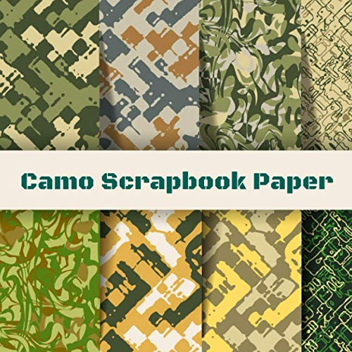 Camo Scrapbook Paper: Camouflage Stationary Book   Origami Craft Patterns  ...
