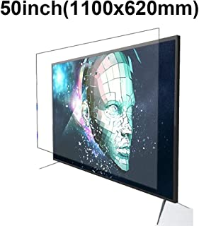 KUYUC Anti Blue Light 50 Inches TV Screen Protector, LED Eye Protection Screen Filter, Ultra-Clear Anti-Glare Screen Protector, LCD Anti-Scratch Filter Film (Color : A)
