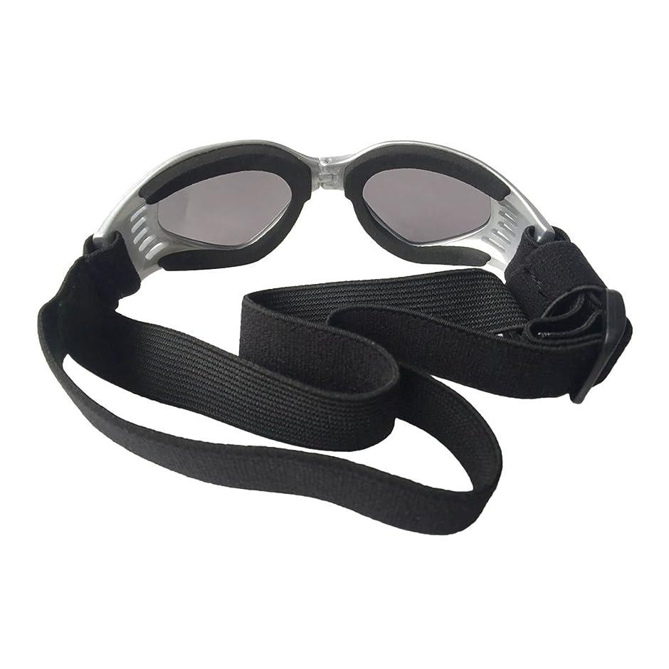 残酷な解く独裁者CAFUTY ペットメガネ犬猫眼鏡スキーゴーグルペットアクセサリーサングラスFoldable (Color : ブラック)
