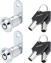 Pudincoco caj/ón cerradura de la leva tubular para el hogar art/ículos importantes Cilindro de seguridad Puerta de buz/ón Gabinete herramienta con 2 teclas MS102