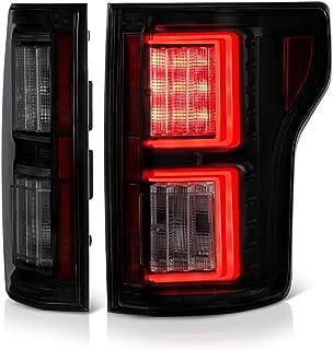 [For 2015-2017 Ford F-150] VIPMOTOZ Premium OLED Neon Tube Tail Light Lamp - Black Housing, Smoke Lens, Driver and Passenger Side