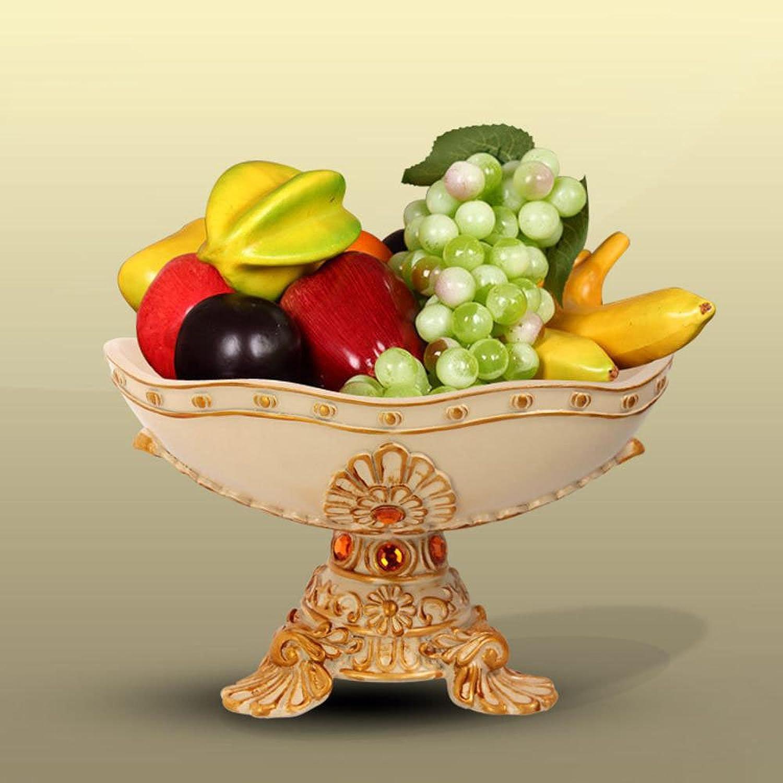 Longless orneHommests plaque de fruits de l'artisanat de résine beige assiette de fruits de style européen