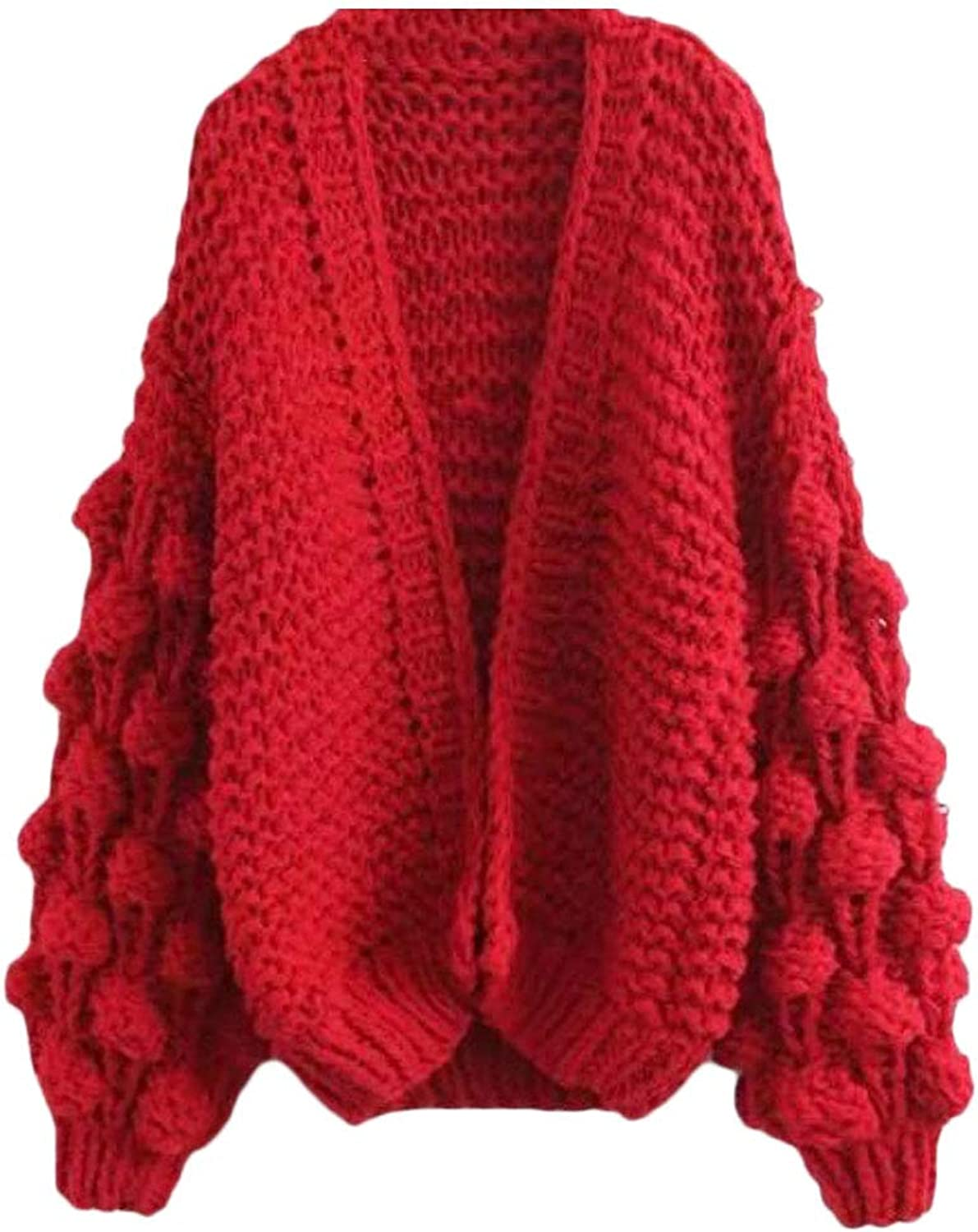 Nanquan Women Large Size AllMatch Stylish Knitted Solid color Cardigan Sweater