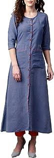 HIRAL DESIGNER - Vestido largo para mujer Kurta indio Kurti