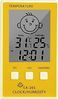 XYXZ Termómetro De Habitación Higrómetro 3 En 1 Reloj Digital Medidor De Registrador Termómetro Higrómetro Termómetro Inte...