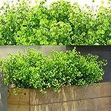 12 Fasci Cespugli di Arbusti Artificiali Artificiali Fiori Piante Resistenti ai Raggi UV Cespugli di Arbusti Decorativi per Composizione Floreale, Centrotavola, Decorazioni Giardino (Verde)