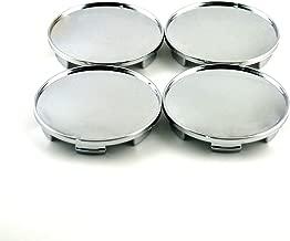 68mm Silver ABS Car Wheel Center Hub Caps Base Set of 4