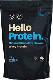 Australian Made Premium Quality Whey Protein Powder 1kg - Natural Chocolate Flavour - Hello Protein