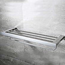 Yxsd Handdoekrail Handdoekrail Gemaakt van roestvrij staal 1 Stuk Handdoekenrek Met Dubbele Wandmontage Badkamer Accessoires