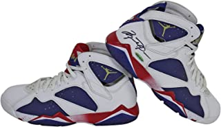 Bulls Michael Jordan Signed Jordan 7 Retro Shoes w/Box #UAS19723 - Upper Deck Certified - Autographed NBA Sneakers