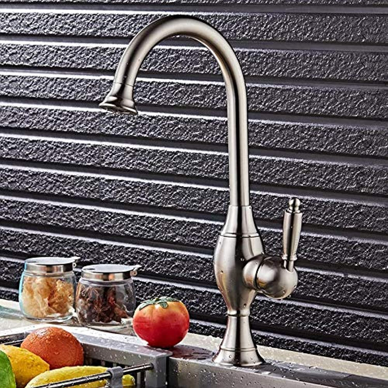 Küchenarmaturen Gebürsteter Wasserhahn Hei Und Kalt Europische Küche Bad Waschbecken Wasserhahn Bad Einlochmontage Waschbecken Wasserhahn