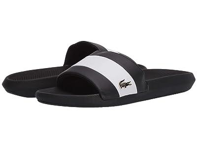 Lacoste Croco Slide 120 3 US (Black/White) Women