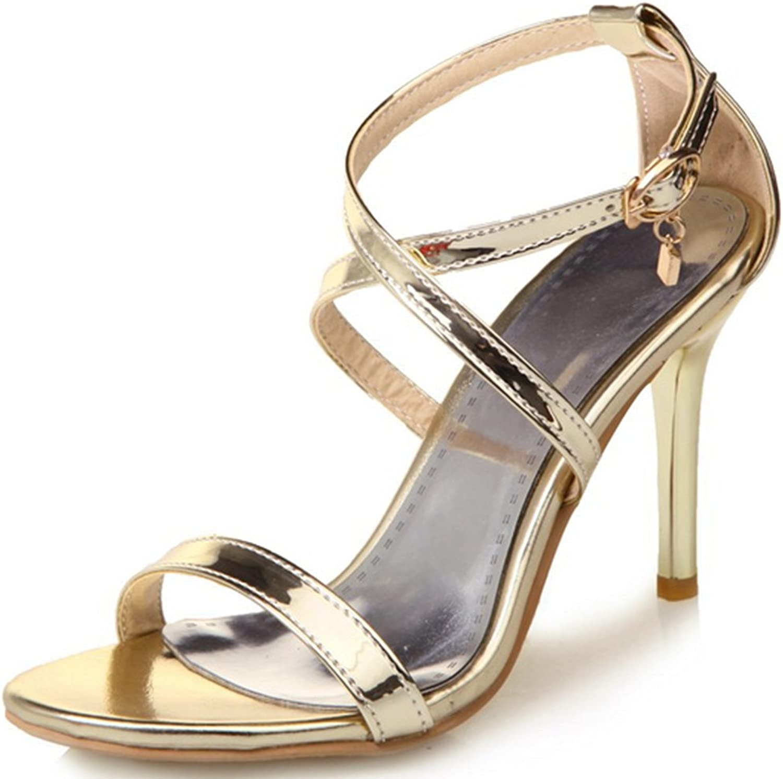 SaraIris Women's Stiletto Heel shoes Open Toe Cross Ankle Dress Stylish Sandals